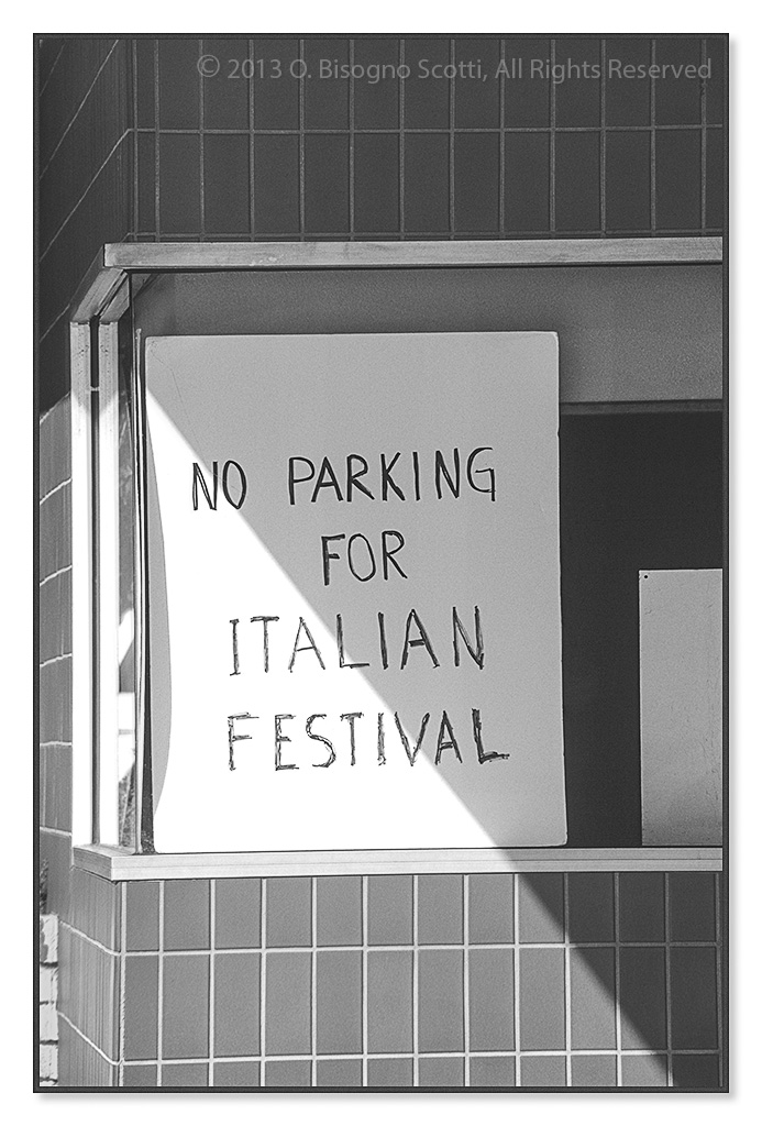 No Parking for Italian Festival