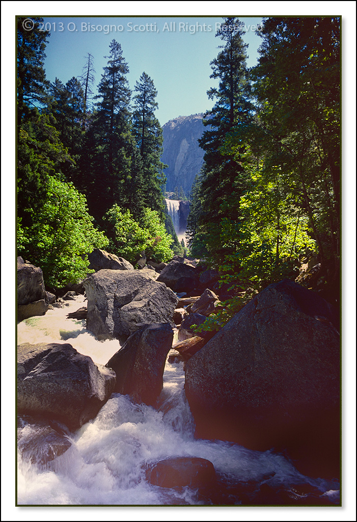 Yosemite Falls and Stream