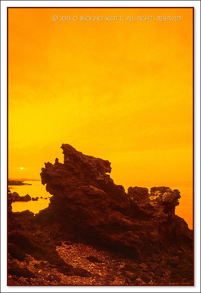 Yongduam Rock at Sunset