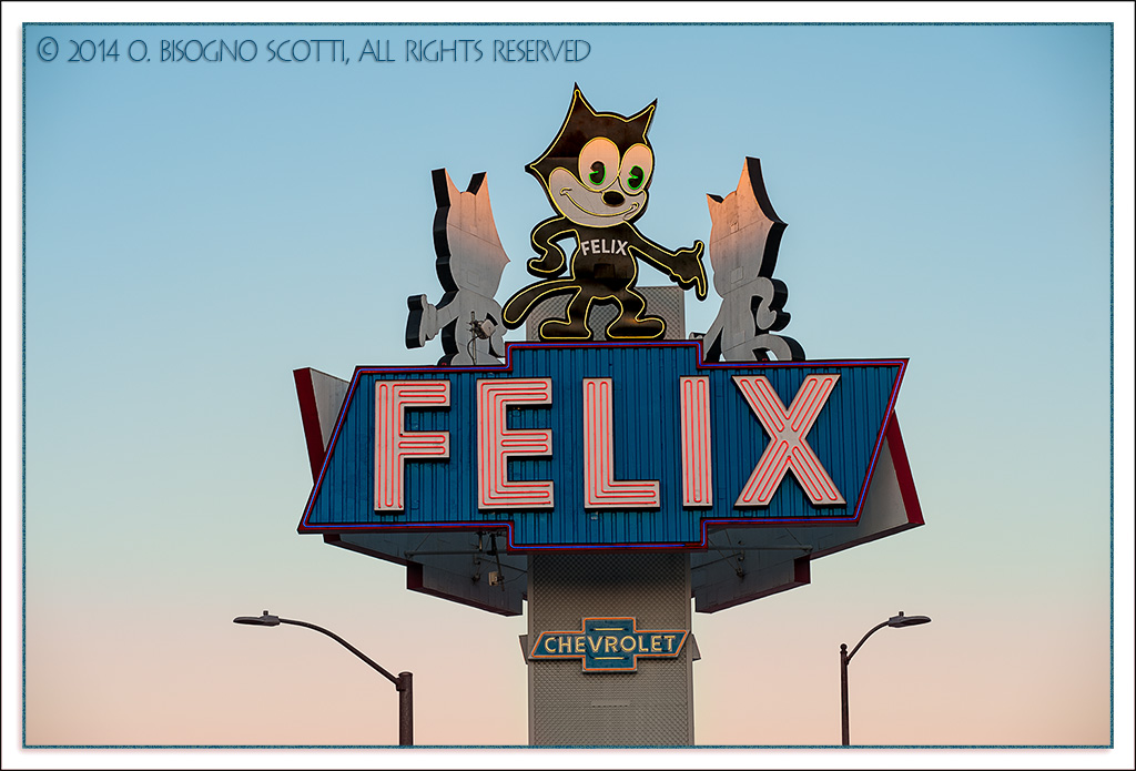 Felix The Cat, Downtown Los Angeles