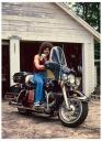 Bisogno on a Harley