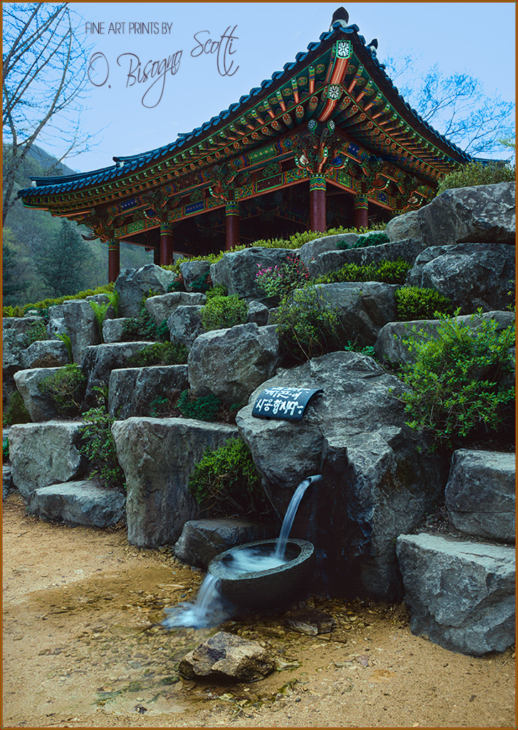 Temple and Drinking Fountain, S. Korea, June, 1994