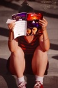 Festa Italia - Girl Reading Curbside