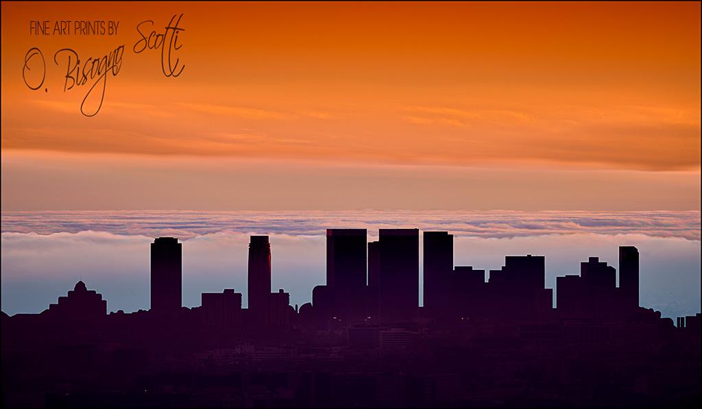 Sunset Over Marine Layer - Century City