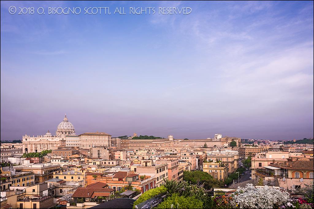 Rooftop Garden View of Vatican City