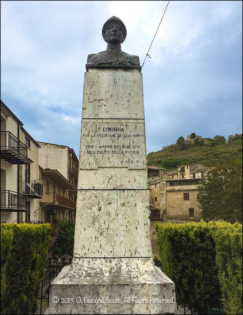 War Memorial, Ciminna Sicily 5/03/2018