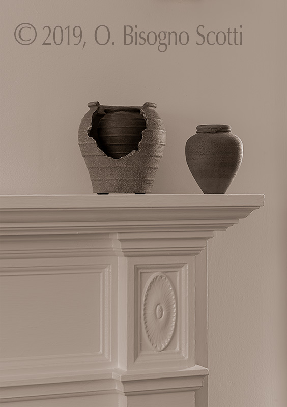 Pottery on Mantel