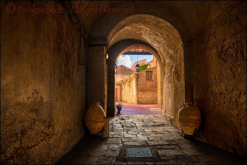 Alley in Enna, Sicily